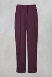 Pegged Trousers in Burgundy
