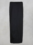 Pleated Pencil Skirt with Print in Black