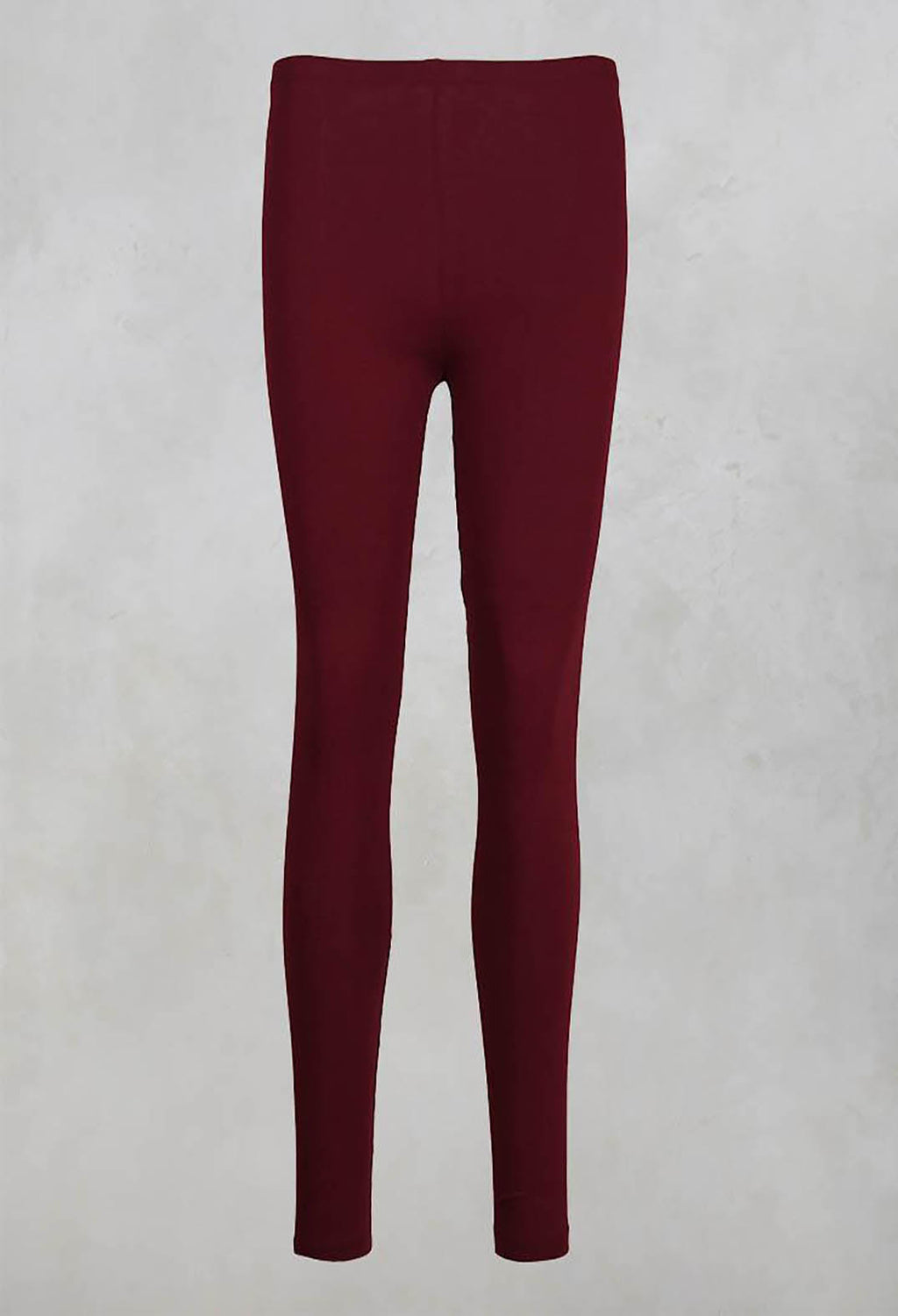 Stretch Jersey Leggings in Crimson
