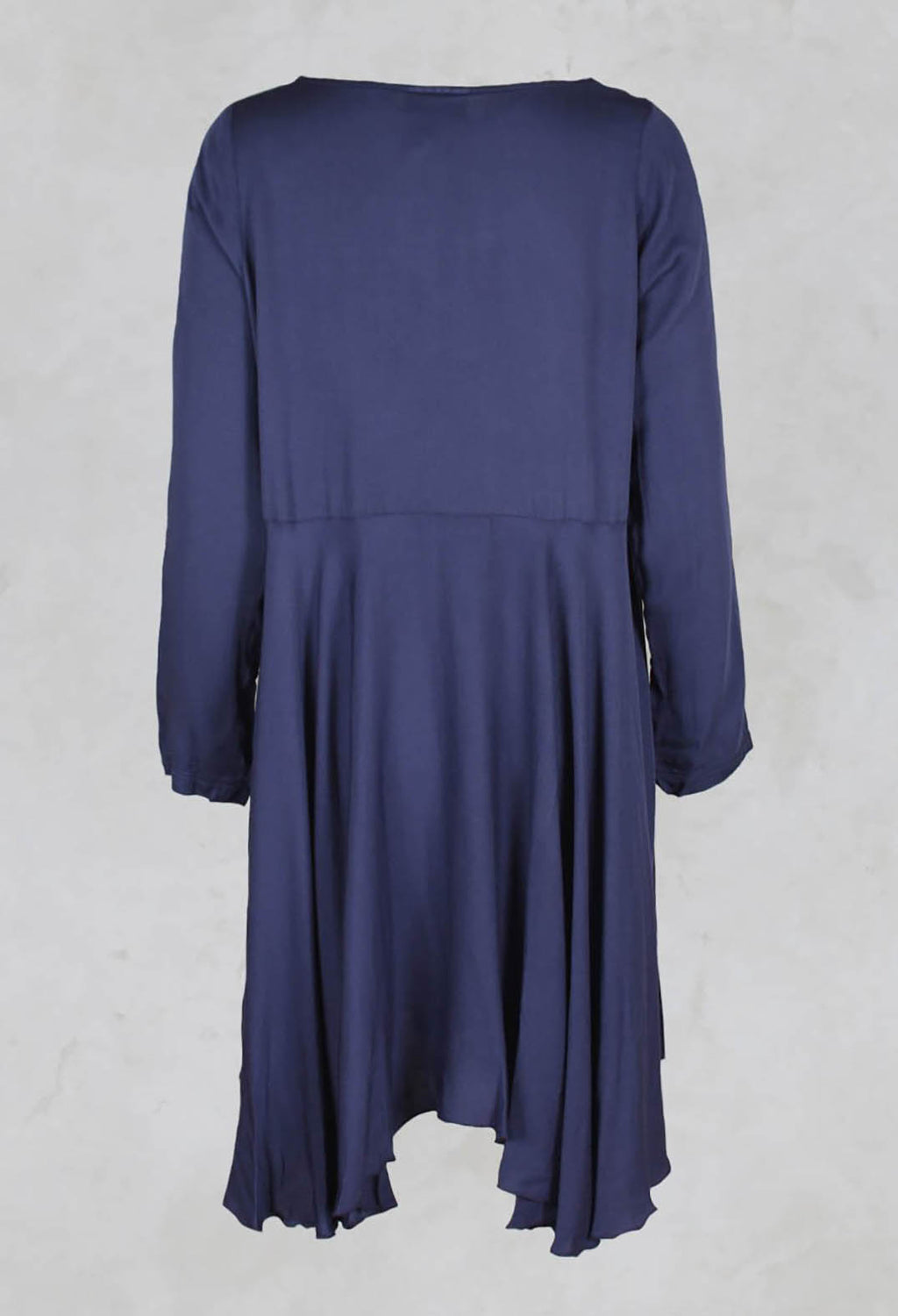 Drop Hem Tunic Dress in Plum