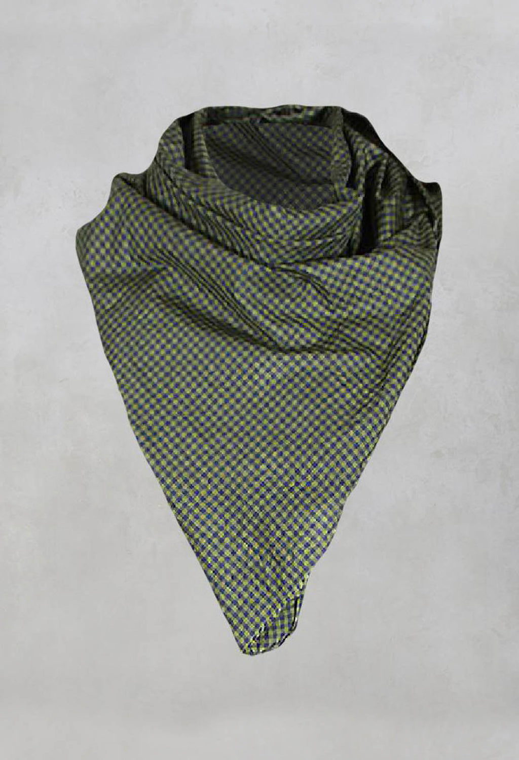 Lightweight Check Print Scarf in Acido Burrasca