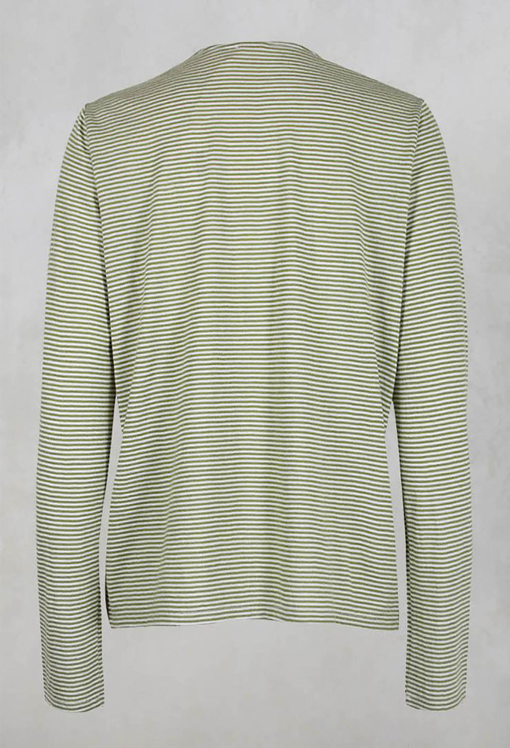 Striped Top in Canapa Verde