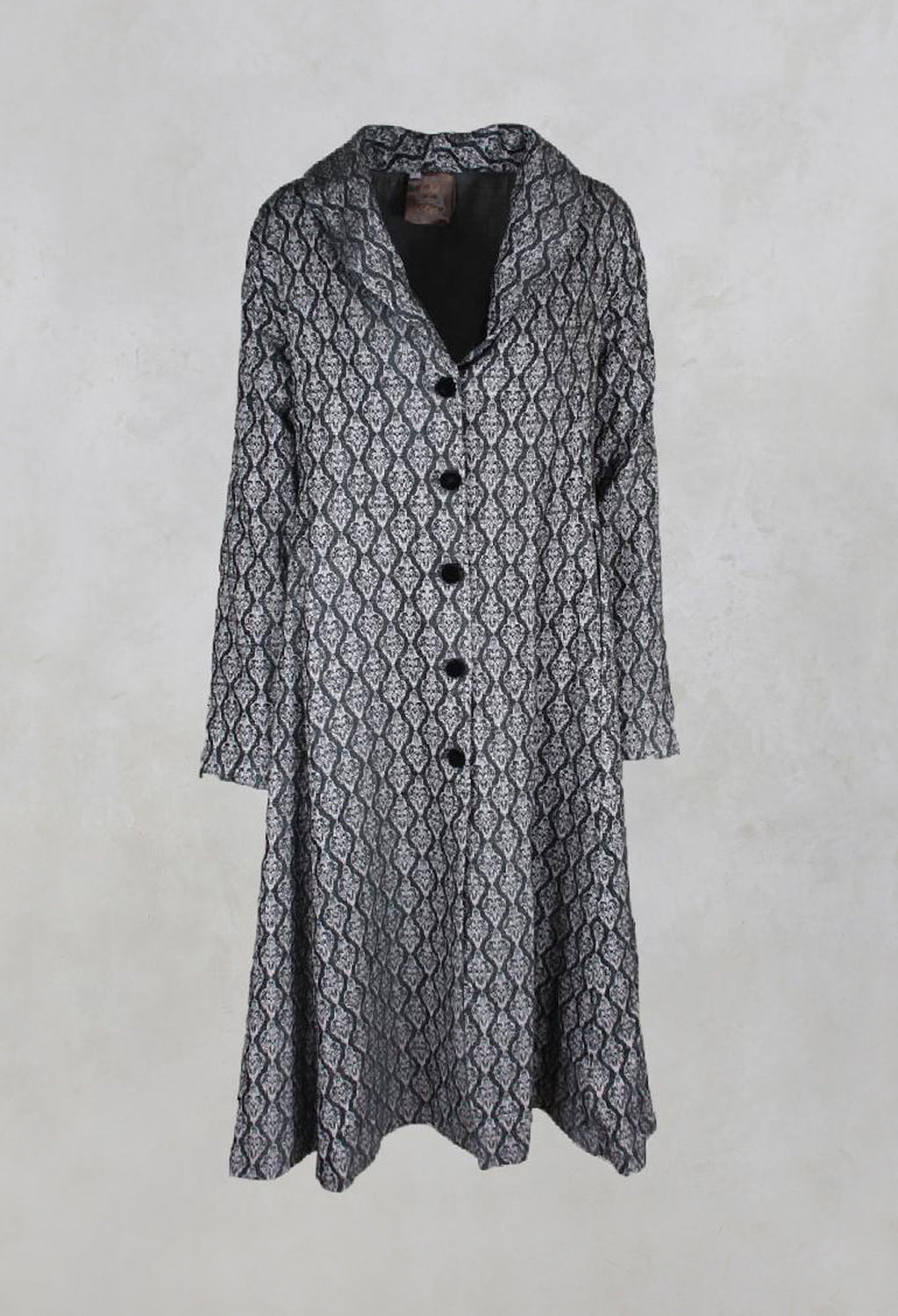 Long Patterned Coat in Flint