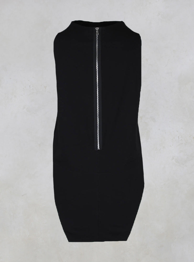 Sleeveless Shirt with Side Slits in Black