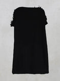 Wide Fit Dress with Wool Texture in Black Mix