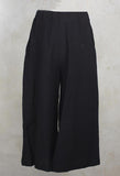 Cropped Wide Leg Trousers in Black