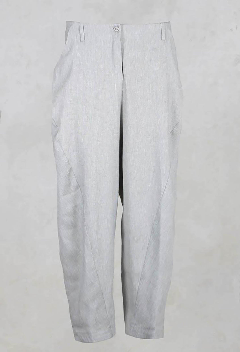Loose Straight Leg Trousers in Grey