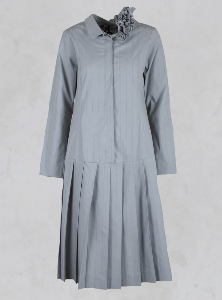 Shirt Dress with Drop Waist in Vernil