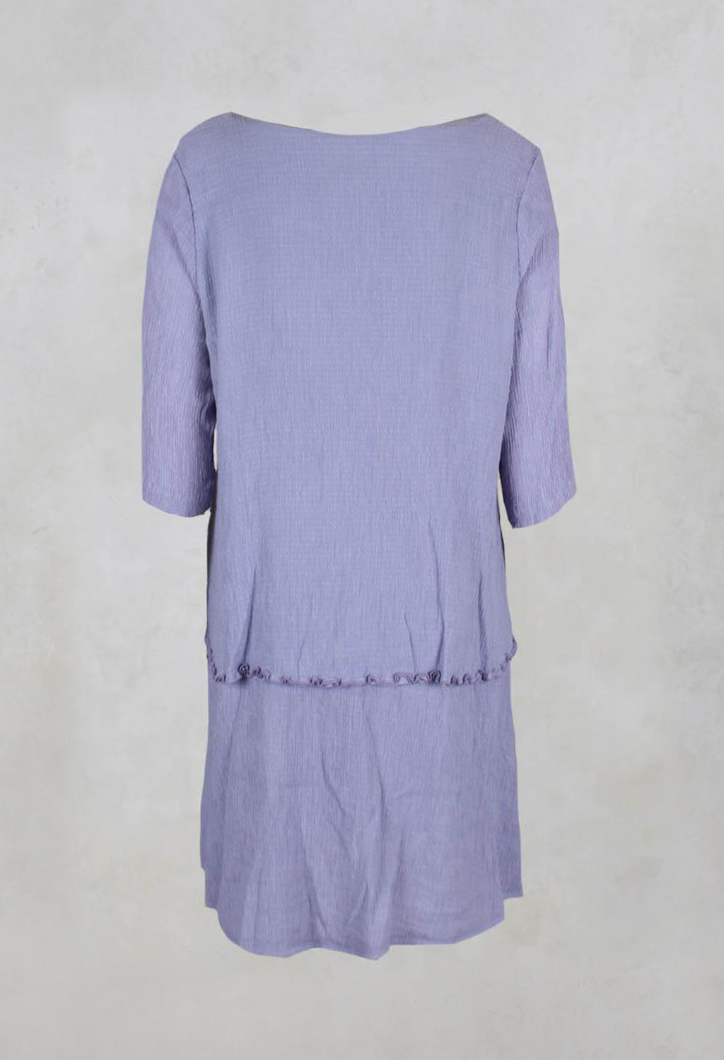 Long Double Layer Tunic in Grape