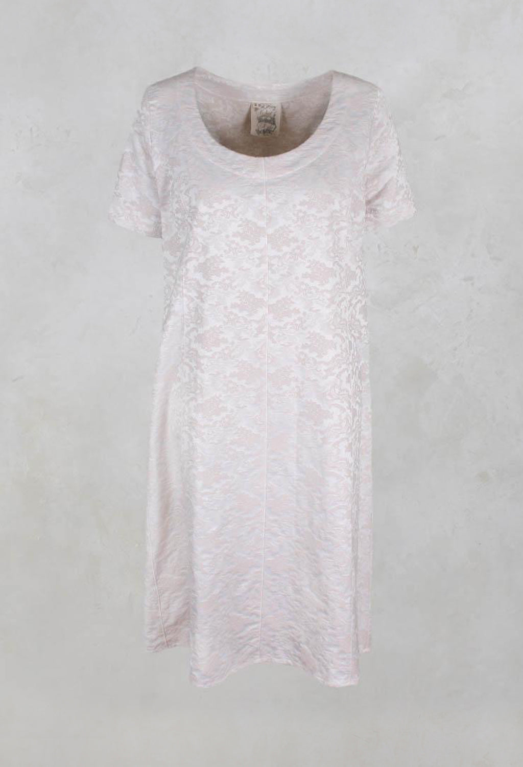 Shift Style Floral Jacquard Dress in Rose