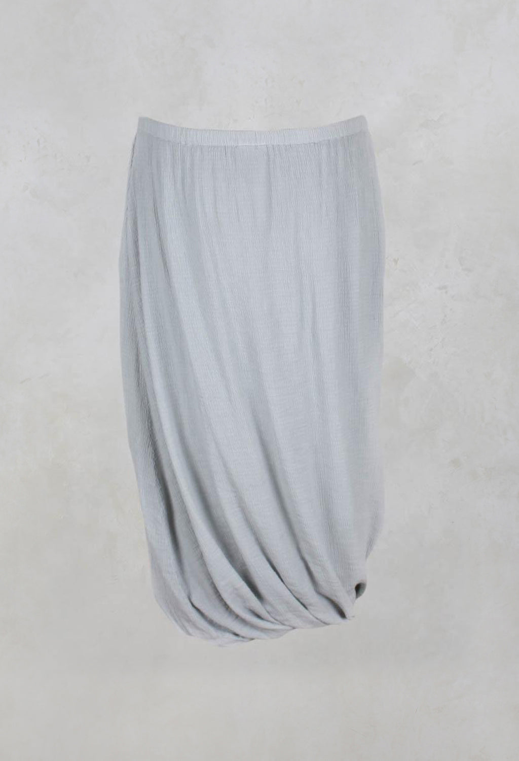 Long Bubble Skirt in Silver