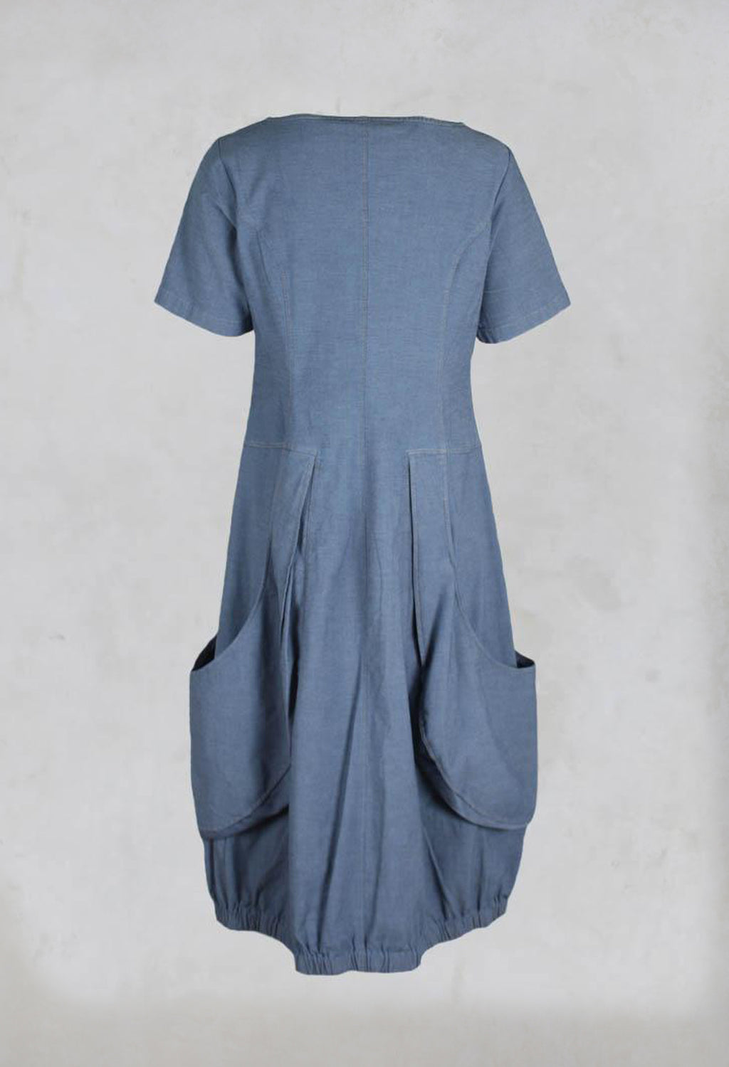 Jennifer Dress with Cap Sleeves in Light Denim