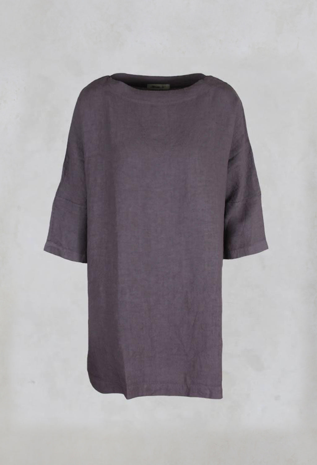 Verbena Wide Canvas Tunic in Malva