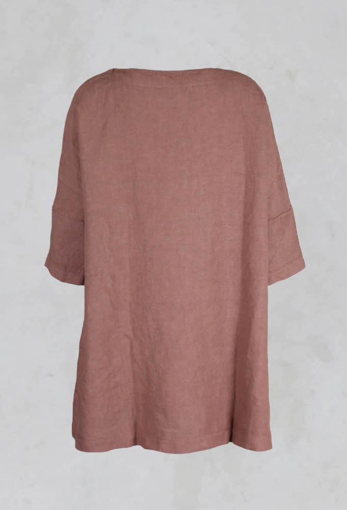 Verbena Wide Canvas Tunic in Vintage Rose