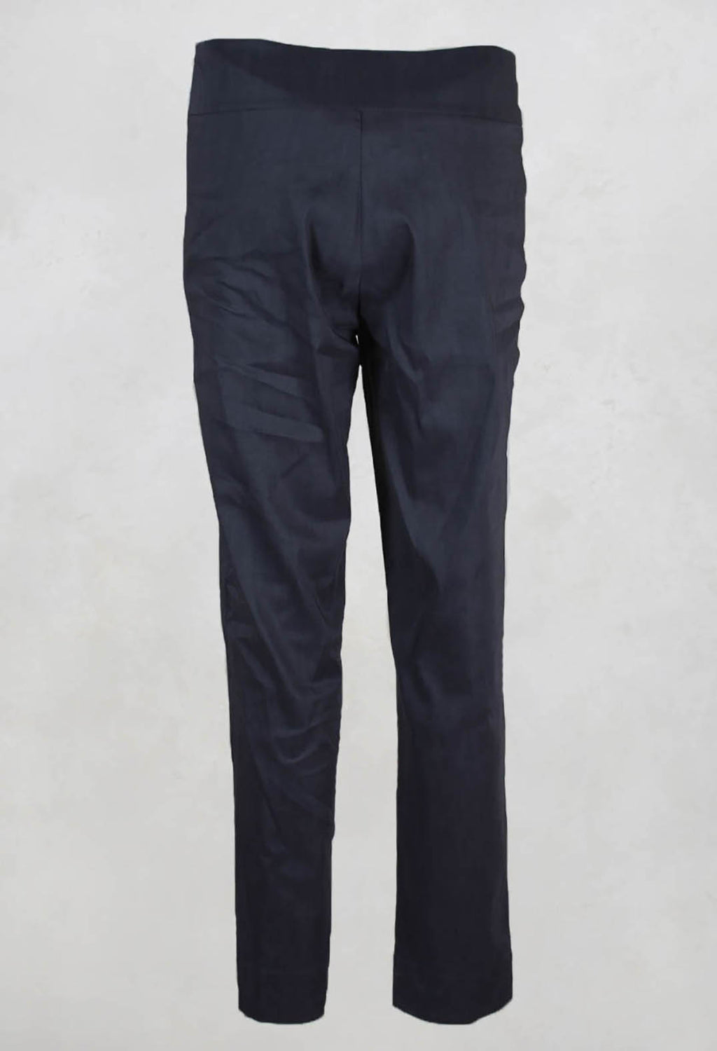 Straight Leg Trousers with Side Zip in Charcoal