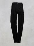 Straight Leg Trousers in Noir