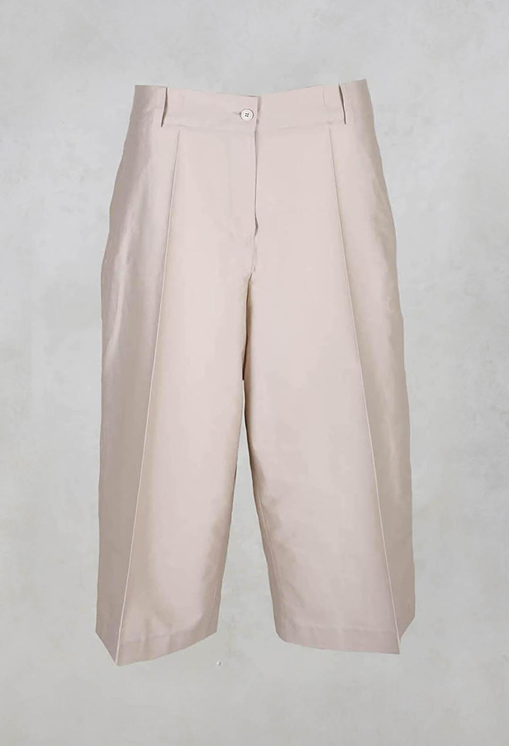 Cropped Wide Leg Trousers in Champagne