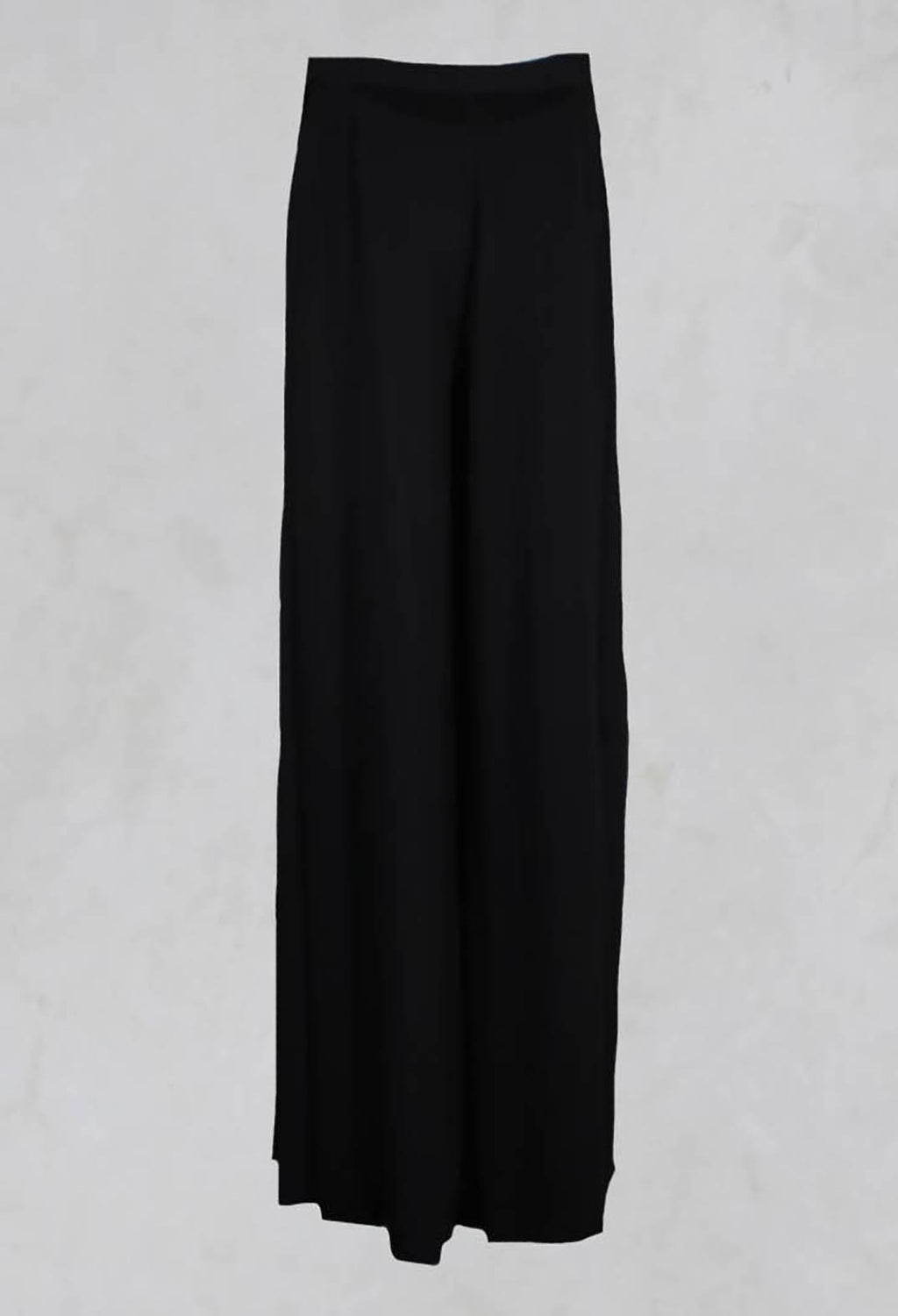 Wide Leg Trousers in Nero