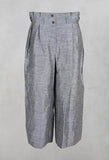 Cropped Wide Leg Trousers in Light Grey