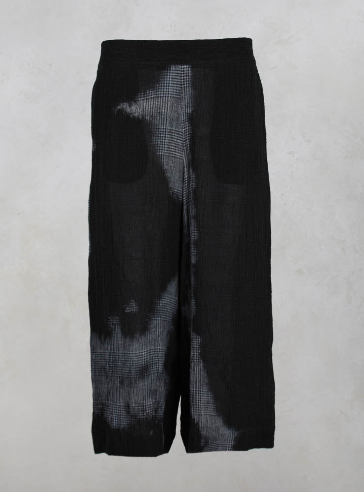 Sheer Loose Fit Trousers in Black Mix