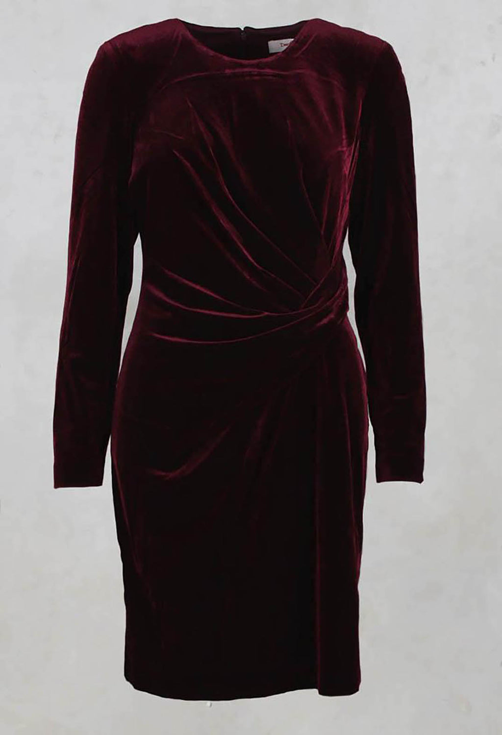 Balneaire Velvet Dress in Bordeaux