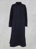 Long Coat with Attached Ties in Blue