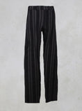 Straight Leg Striped Trousers