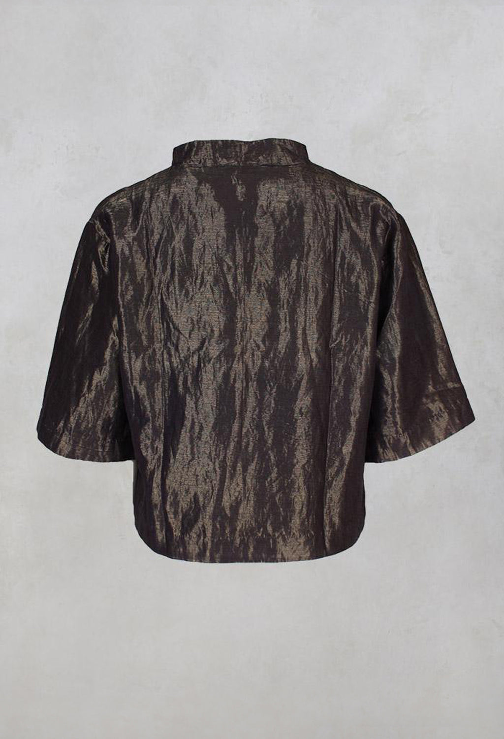Handwoven Silk Metal Blouse in Copper