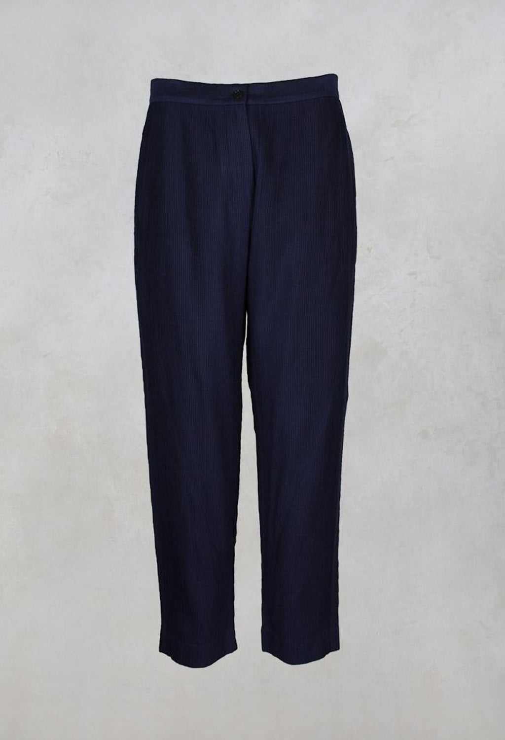 Panelled Cotton Pintuck Pants in Blue