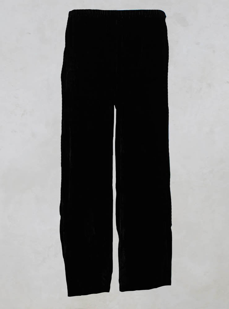 Long Velvet Trousers in Black