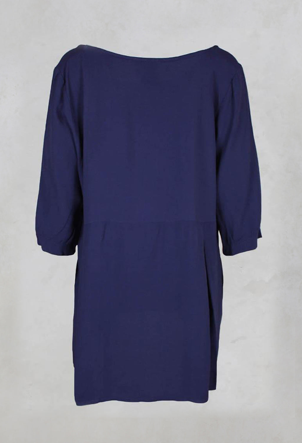 Long Pleated Tunic in Plum