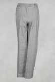 Straight Trousers with Button Front in Truffle
