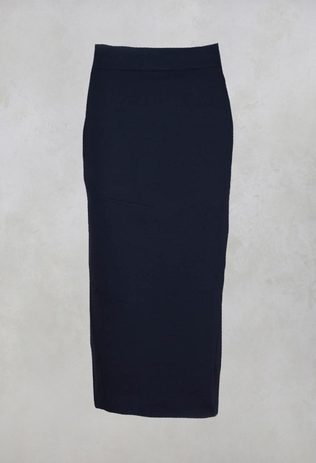 Pencil Skirt with Back Slit in Navy