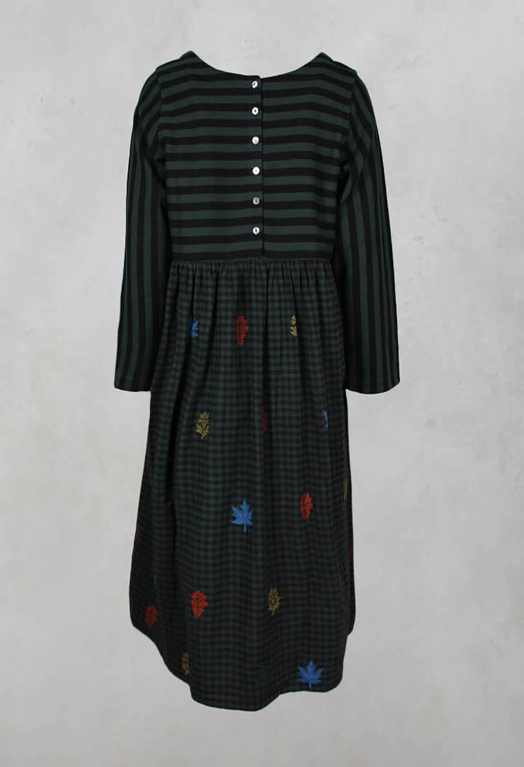Smock Dress in Sycamor / Jet Set