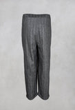 Cropped Wool Trousers in Asfalto