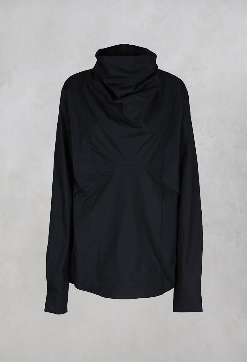 Cowl Neck Top in Nero