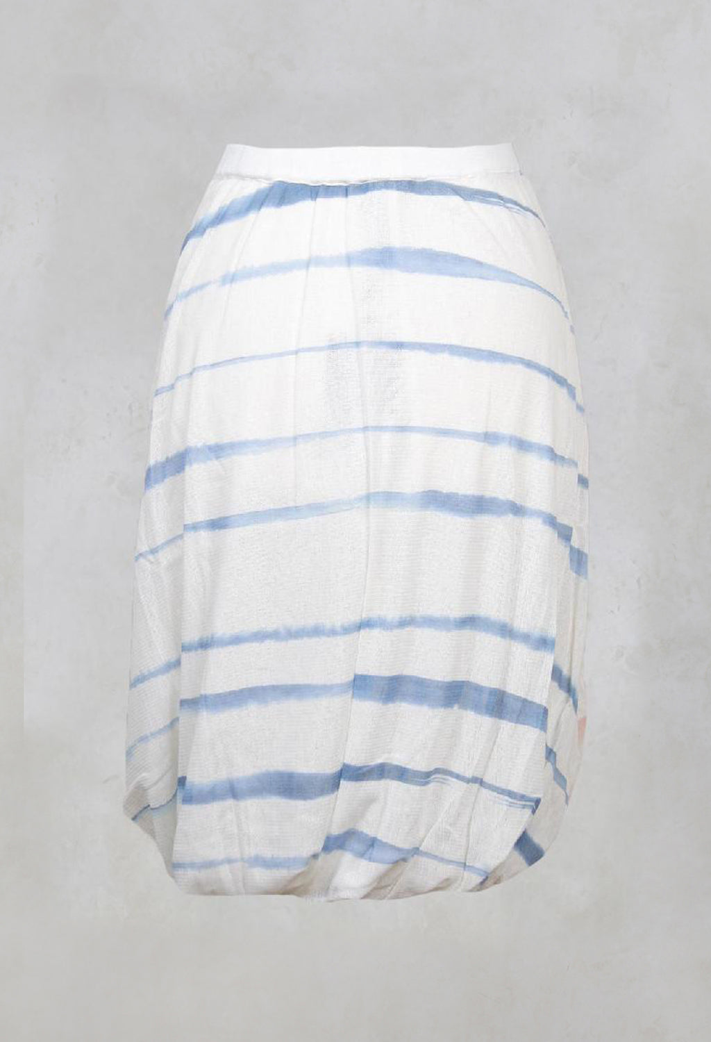 Twist Hem Skirt in Cornflower/Rose Stripe