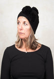 Knitted Bobble Hat in Black