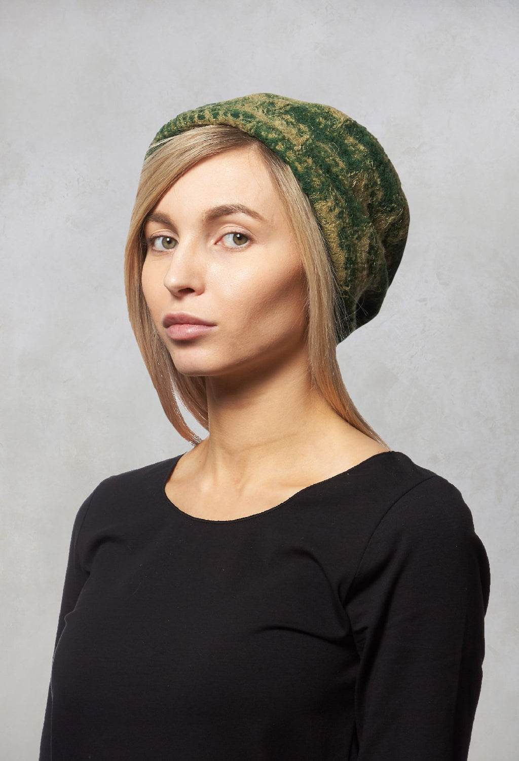 Knitted Beret in Green