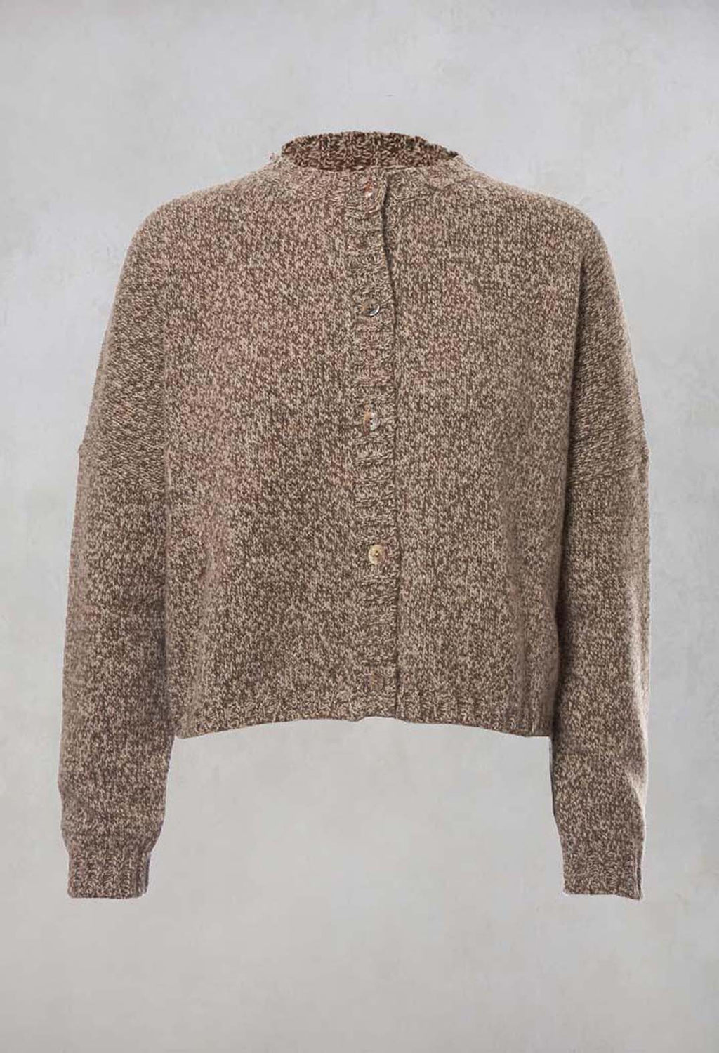 Knitted Cardigan in Coffee