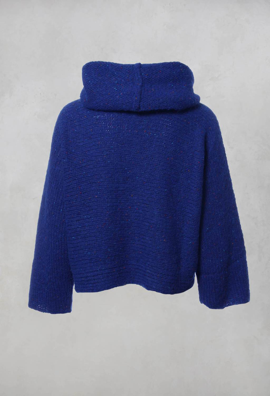 Knitted Roll Neck Jumper in Blue