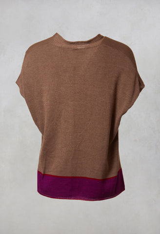Knitted Sleeveless Top Korean in Taupe