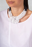 Knot Necklace in Grey