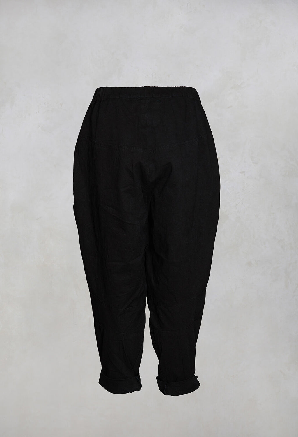 Lyon Heavyweight Cotton Trousers in Black