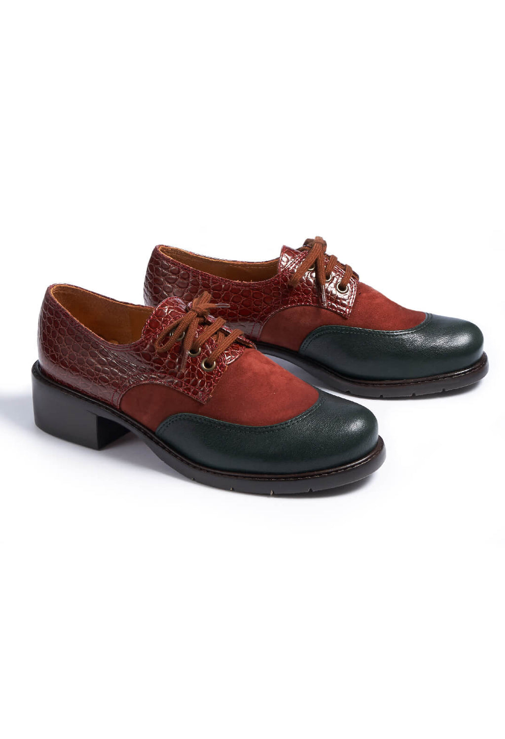 Lace Up Brogues in Barna / Verde / Ante / Terra / Nilo / Brick