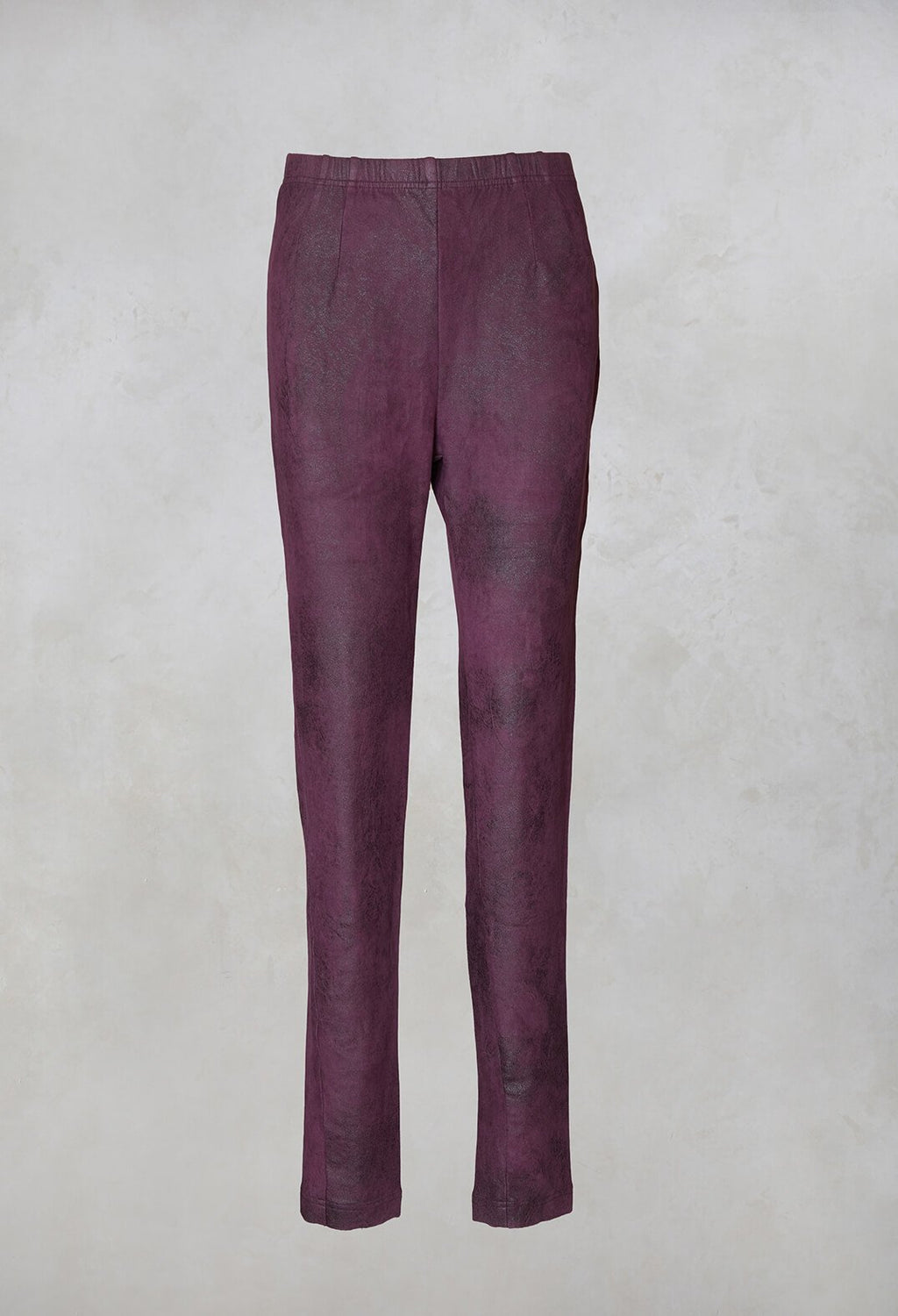 Leather Look Leggings in Merlot