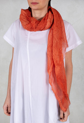 Linen Scarf in Orange