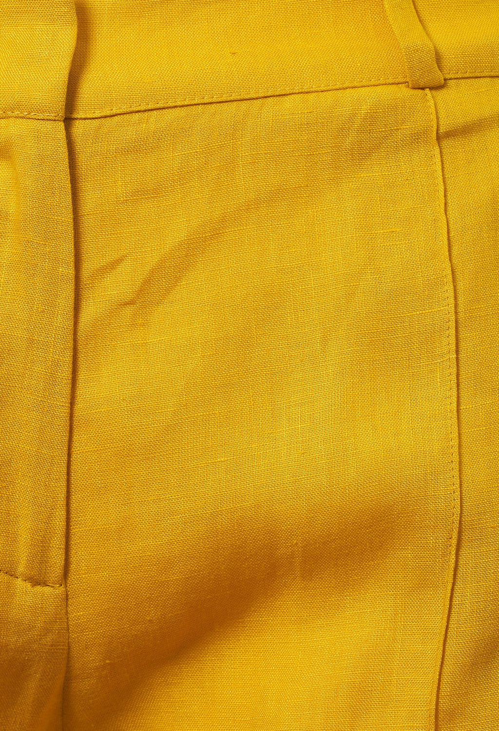 Linen Trousers in Banana