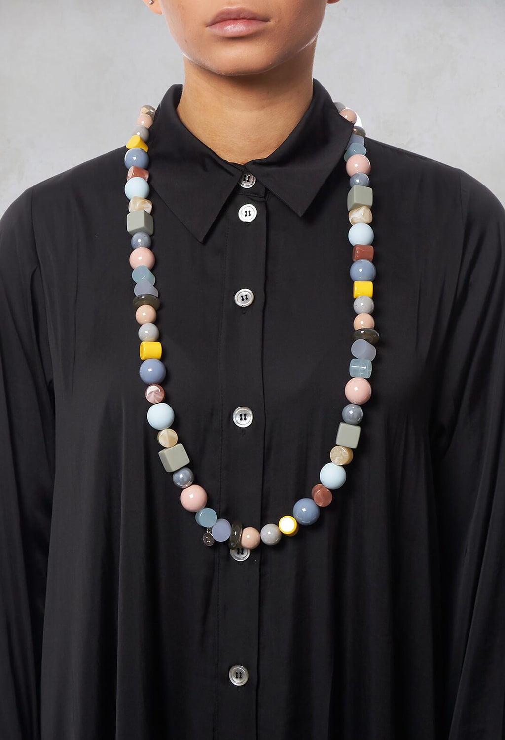 Long Beaded Necklace in Multicolour