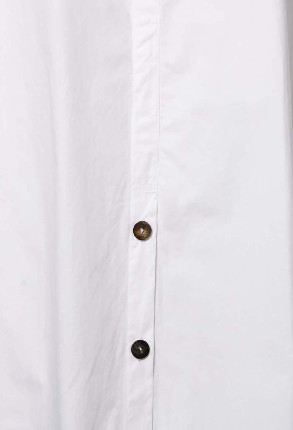 Longline A Line Shirt in White